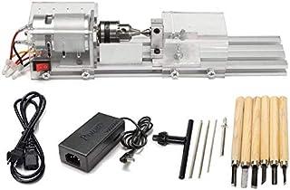 usinage CNC pour le travail du bois de table Tour de bricolage en bois mini machine de polisseuse de billes Poweka Mini machine de tour