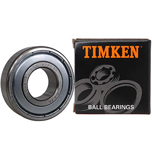 TIMKEN 6203-2Z 2 Pcs Double Metal Seal Bearings 17x40x12mm, Pre-Lubricated and Stable Performance and Cost Effective, Deep Groove Ball Bearings.