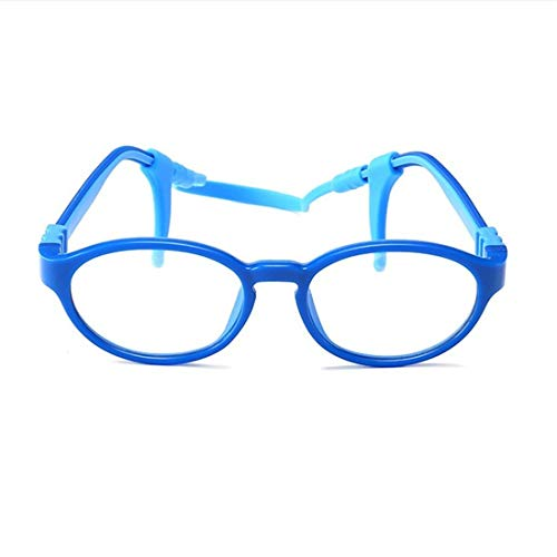 WAVENI WAVENI Brillengestell Kindersilikon Brillengestell Nicht Verschreibungspflichtige Brillen for Kinder (Color : Blue)