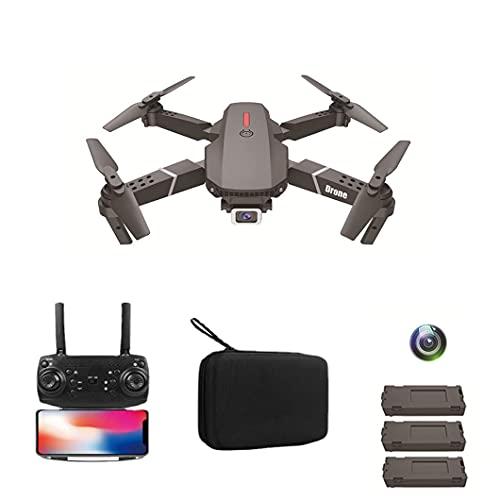 JJDSN Drone per Fotografia Aerea, Singola Fotocamera 4K Pixel, Piano di Controllo remoto Lungo Pieghevole a Quattro Assi, Versione a 3 batterie Nera