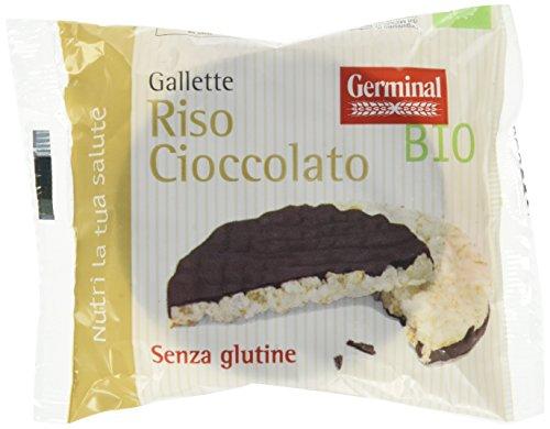 Germinal Bio Gallette Riso Cioccolato - 32 confezioni da 2 gallette - 1056 gr