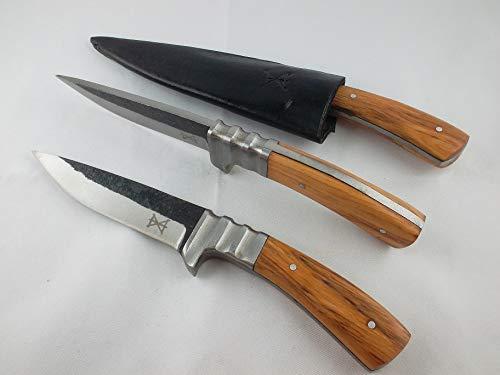 gamsjaga Lederhosen Messer GJ80 Olivenholz