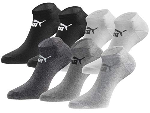 PUMA Sneakersocken 18 Paar Pack Statement Edition - Damen & Herren - Black-White-Anthracite - Gr. 43-46