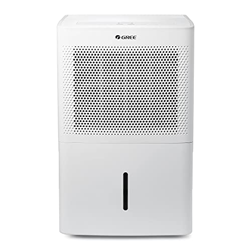 Gree Dehumidifier 21 Pint for up to 1500 Sq.ft, Energy Star Dehumidifier for Bathroom, Basement, Bedroom with Intelligent Humidity Control, LED Control panel, Quiet Design, Continuous Drainage