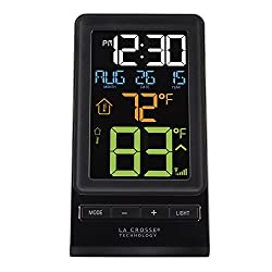 La Crosse Technology 308-1415 Digital Multi-Color LCD Wireless Thermometer, Black