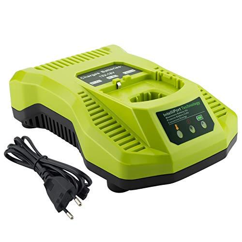 Gooality Cargador P117 para Ryobi 12V-18V Ni-Cd Ni-MH batería de iones de litio P100 P101 P102 P103 P104 P105 P106 P107 P108 herramientas batería