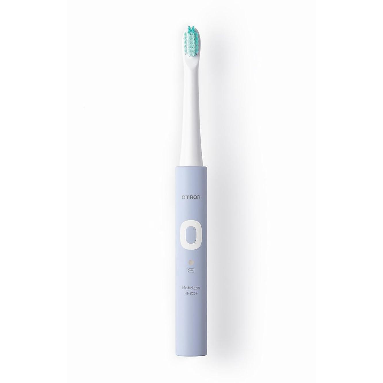 通貨反動緑オムロン 電動歯ブラシ メディクリーン 音波式 ラベンダー HT-B307-V