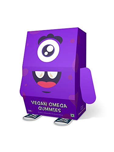 mambajamba Vegan Omega Multivitamin Gummies for Kids, Gluten-Free Formula with DHA, Lutein Zeaxanthin & Astaxanthin for Eye Health, Vitamin A & Vitamin C for Strong Immunity,30 Gummy Bears