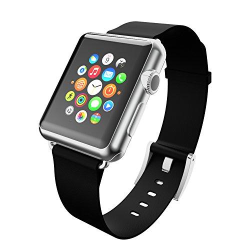 Incipio - Cinturino in pelle per tutti i modelli di Apple Watch, 38 mm, Apple Watch Sport, Apple Watch Edition, colore: Nero