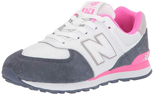 New Balance Girls 574v1 Lace-Up Sneaker, Vintage Indigo/, 13.5 C M US Toddler (1-4 Years)