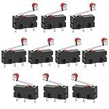 GOLRISEN 10 unids Interruptor de Rodillo Interruptor Mini Límite Micro CNC Final de Carrera enrutador Router Impresora 3D Brazo de Palanca del Interruptor