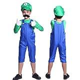 Anladia - Disfraz de Super Mario Brothers Luigi para niño Cosplay Dress Fiesta...