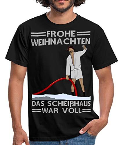 Weihnachten Scheißhaus War Voll Ugly Christmas Männer T-Shirt, 3XL, Schwarz