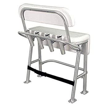 Taco Marine L10-2010BSA-1 Neptune III Seating/Leaning Post with Backrest and Grab Rail