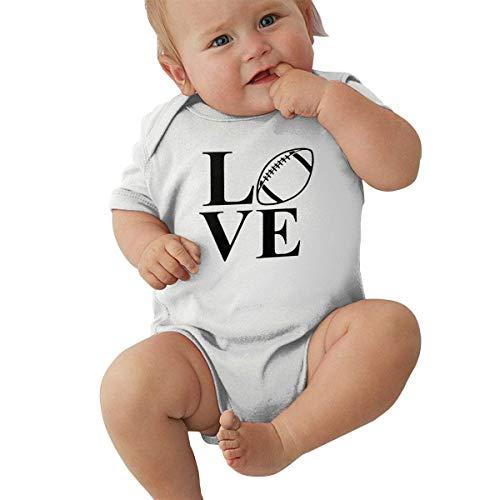 Generic Baby Body Liebes Rugby Ball Kleinkind Kleinkind Klettern Kurzarm Strampler Overall 2T