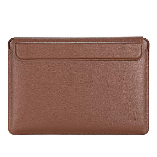3 in 1 Laptop Sleeve Compatible with 13-16 inch MacBook Pro, MacBook Air, Waterproof Notebook Computer Bag Case with Lapto Stand, Brown,16 inches