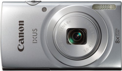 Canon IXUS 145 - Cámara compacta de 16 MP (Pantalla de 2.7', Zoom óptico 8X), Plateado