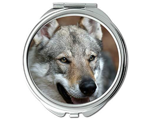 Yanteng Spiegel, Taschenspiegel, Wildwildtaschenspiegel Animal Wolf, 1 X 2X Vergrößerung