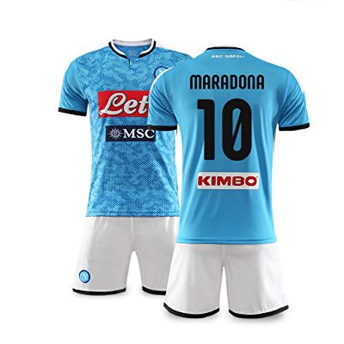 AWJK Neapel Nr. 10 Maradona Fußballuniformen Herren und Damen Sport Teamuniformen Custom Trikots, XXL