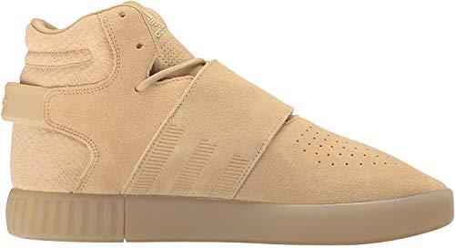 adidas Originals Women's Tubular Invader Strap Fashion Running Shoe, Khaki Linen S, (8.5 M US)