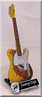 JIMMY PAGE Miniature Guitar Led Zeppelin Telecaster Dragon w/Guitar Pick