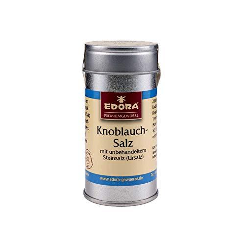 Premium Qualität Gewürz EDORA Streudose Streuer Knoblauchsalz Knoblauch Salz mit unbehandeltem Steinsalz Ursalz 75 Gramm