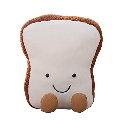 Unionm Kawaii Cute 20/30cm Toast Bread Pillow Bedtime Cushion Soft Plush Toy Stuffed Animal Toy Baby Doll Gift for Adults/Kids/Boys/Girls/Dogs/Cats (20cm)