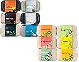 O Naturals Black Soap & Citrus Soap Collection Bundle. 12 Unique Different Bars of Soap. Best Premium Skin Care Spa Bath & Body Gift Set for Women & Men. Vegan Soap with Organic Ingredients. 4oz Bars