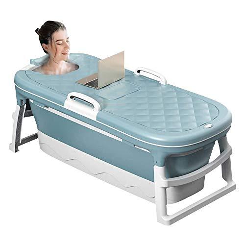SSS Bañera Plegable, bañera de baño de Ducha, bañera de Masaje portátil Adulta con Cubierta termostática 45.2 Pulgadas