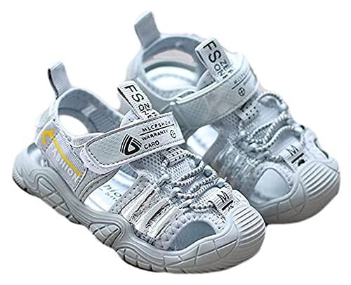 ZKDY Zapatos de bebé Sandalias de bebé Zapatillas de Deporte Suela Suave Sandalias Antideslizantes Sandalias Anti-Patada Zapatos Ajustos Zapatos de Agua de bebé (Color : Blue, Size : 19cm)