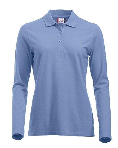Clique Clothing, maglia a maniche lunghe classica in cotone, da donna, vestibilità moderna, da XS a XXL Light Blue X-Large