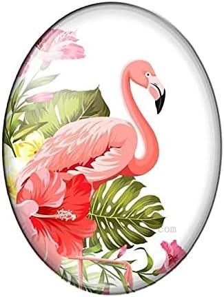 Bombing new work CUTIHO Flamingo New product type Animals 10Pcs 13X18 18X25 Oval Flat 30X40mm Back