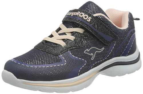 KangaROOS KangaGlozzy EV Sneaker, Dark Navy/Frost Pink 4130, 34 EU