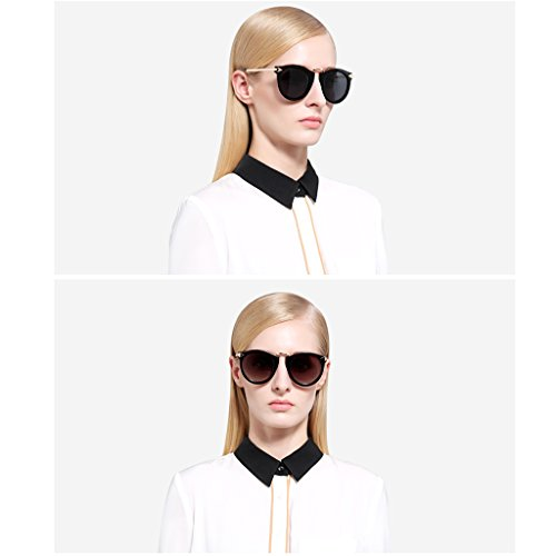 QUD Marco Rosado Gafas de Sol Mujer V Cara Pequeña Cara Larga Redondas Cara Moda Retro Tendencia Deportes Gafas de Sol Redondas Coach Gafas de Sol 20/3/6 (Color : 2)
