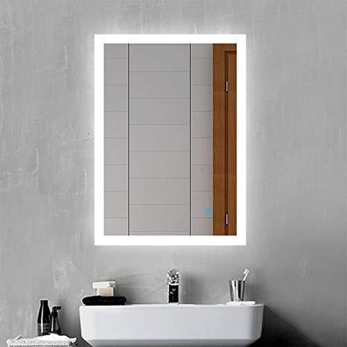 Xinyang LED Badspiegel Badezimmerspiegel 50x70 mit Beleuchtung Lichtspiegel Wandspiegel mit Touch-Schalter beschlagfrei IP44 energiesparend Kaltweiß