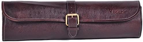 Super-cheap Boldric 2021 One Buckle Leather Knife Bag Brown