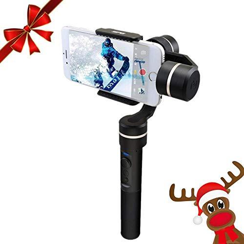 Feiyu SPG Stabilizzatore Gimbal a 3 Assi per Smartphone, iPhone, Action Cam, e Tutte le Videocamere di GoPro