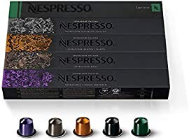 Nespresso Capsules OriginalLine, Ispirazione Variety Pack, Medium & Dark Roast Espresso Coffee, 50 Count Espresso Coffee...