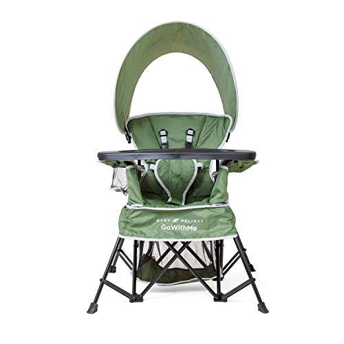 Baby Delight Go with Me Venture Deluxe Portable Chair Moss Bud, Green