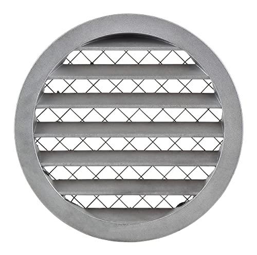 Aluminium 160mm Wetterschutzgitter - Rund Lüftungsgitter Abluftgitter Gitter mit Mäuseschutzgitter