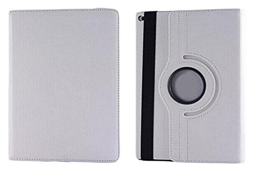 Demarkt Leather Case 360 Degree Protective Smart Case Cover for iPad Air 2 6 White Protective Case and Screen Protector