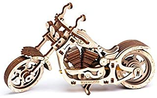 WOODEN.CITY Motorcycle Cruiser | Mechanical Model Kit | Puzzle Set | Beautiful Working Gift and Decor for Home or Office