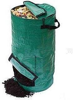Ezgardenコンポストバッグ 肥料袋 PE布製 果物や台所廃棄物処理バッグ 生ゴミ 発酵 ガーデン用 スクラップ・コレクター 植え袋 ダークグリーン 50L