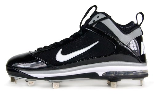 Nike Air Max Diamond Elite MTL Metal Mens Baseball Cleats 10.5 M Black/White