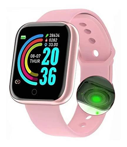Relogio Smartwatch D20 Feminino Rose iPhone Android Whatsapp Instagram Recebe Ligações