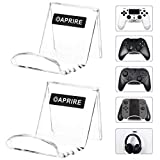 OAPRIRE Universal Controller Stand Holder Wall Mount(2 Pack) - Perfect Display and Organization - Fits Modern&Retro Game Controllers/Headset - Handcrafted PS4 Controller Accessories with Cable Clips
