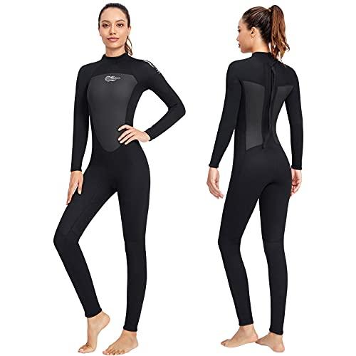 3mm Combinaison Plongée Femme Homme AONYIYI Élasticité Wetsuit Manches Longues Néoprène Wetsuit pour Surf Snorkeling Natation