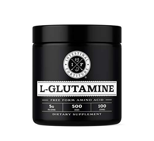 Intestinal Fortitude L Glutamine Powder - Allergen Free - For Leaky Gut IBD IBS Gut Health - Free Form Amino Acid - 500 Grams - 5 Grams Per Serving - 100 Servings