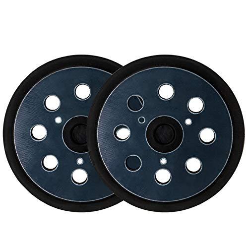 VONDERSO Sander Pad Replacement Hook and Loop Sanding Discs 5 inch 8 Holes Orbital Sander Backing Plates for Makita 743081-8 743051-7, DeWalt 151281-08 DW4388, Porter-Cable, Hitachi 324-209,2 Packs