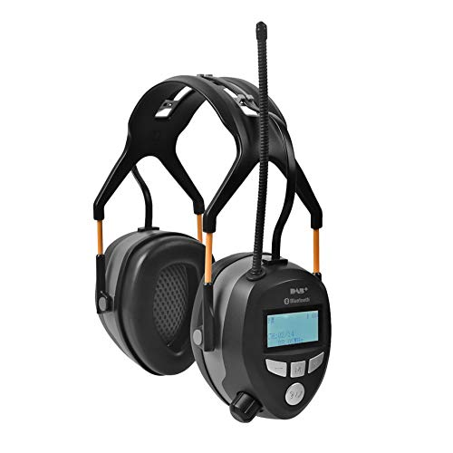 Clas Ohlson ® Wireless Bluetooth Ear Defenders (Noise Cancelling + FM & DAB+ Radio) Rechargeable...